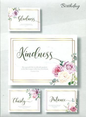 Christian greeting cards - feminine birthday