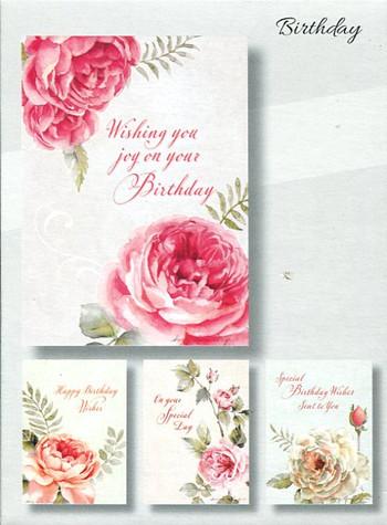Birthday Christian Cards - Roses