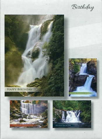 Christian boxed birthday cards - waterfalls