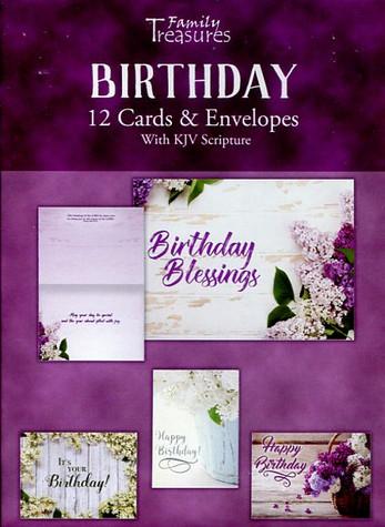 Feminine birthday cards : lilacs