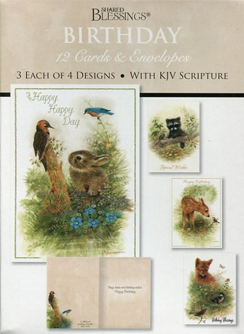 Children birthday cards featuring adorable animals and Christian Bible verse.  'Wee Wildlife' child birthday cards for the kids in your life.