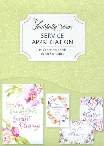 Service appreciation cards