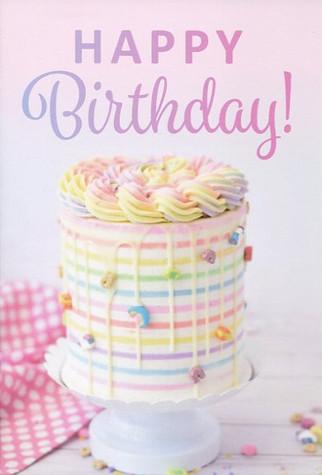 Cake Birthday Card  #63546