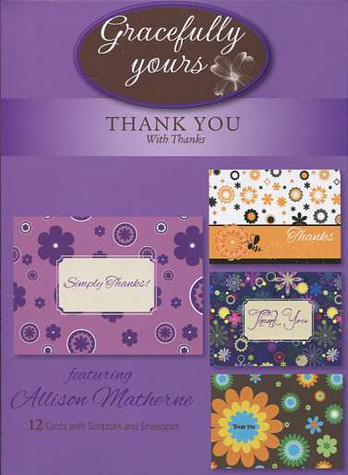 12 Boxed Christian thank you cards by Gracefully Yours
