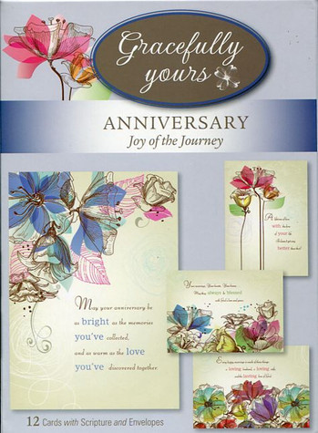 Joy of the Journey 12 anniversary cards with envelopes