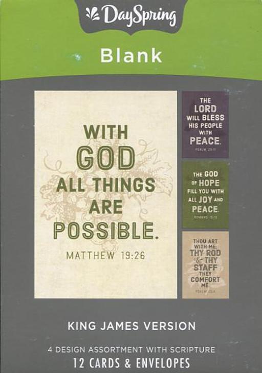 KJV Scripture blank note cards