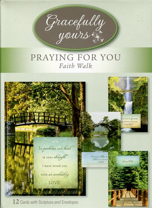 12 praying for you greeting cards with envelopes