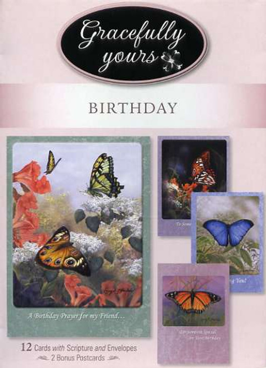 Gracefully Yours boxed christian birthday cards