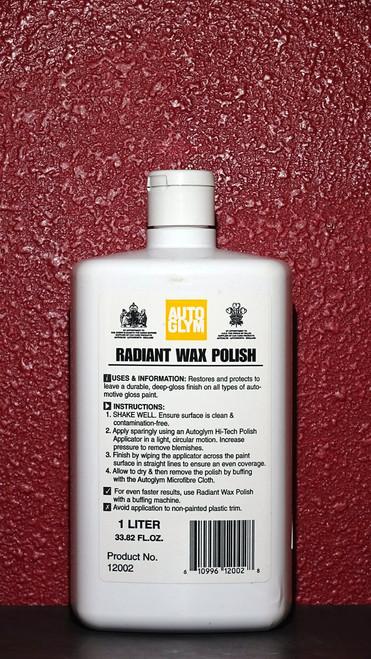 Autoglym Radiant Wax Polish Liter