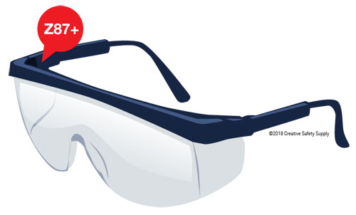 ANZI Z87.1 + Safety Glasses