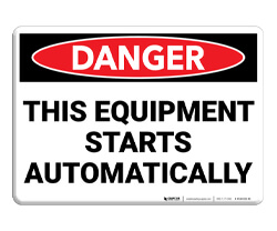Equipment Signs