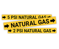 Natural Gas Pipe Labels