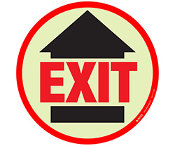Photoluminescent Egress Exit Path Markings