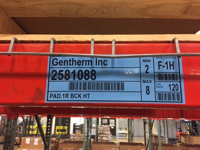 Gentherm Rack Labels