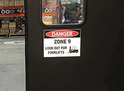 Forklift Safety Label Danger
