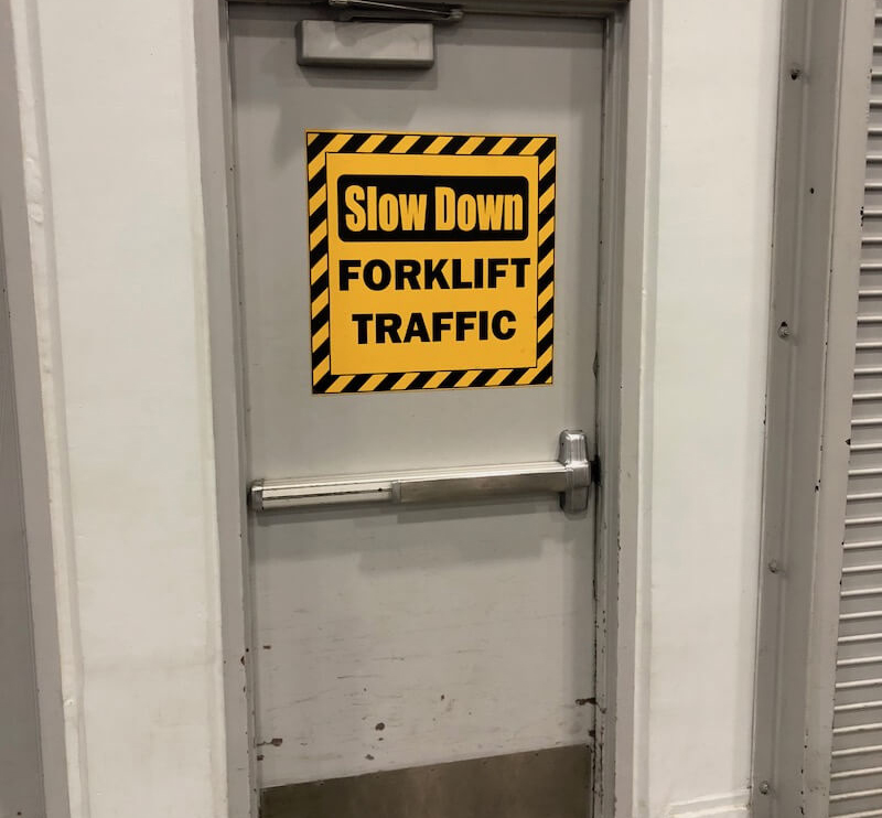 Forklift Safety Label Warehouse