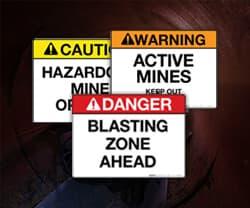 Mining & MSHA Labels