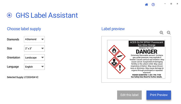 GHS Label Assistant
