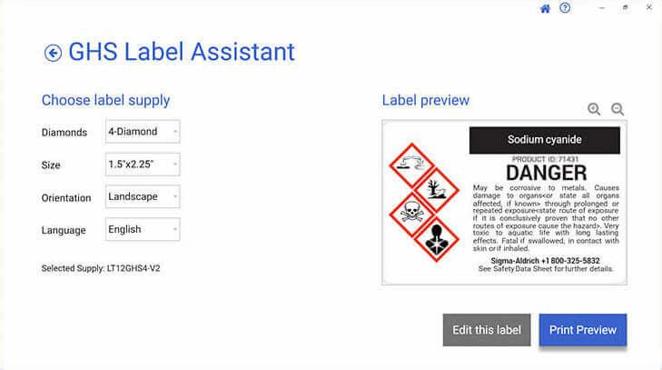 LabelSuite GHS Assistant