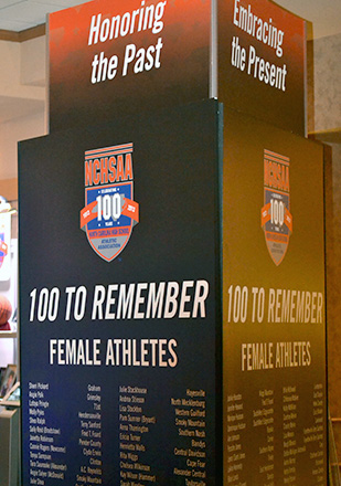 NCHSAA 100 To Remember sign