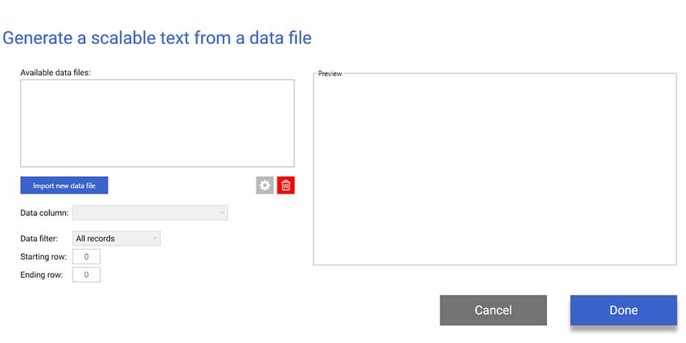 LabelSuite CSV importer
