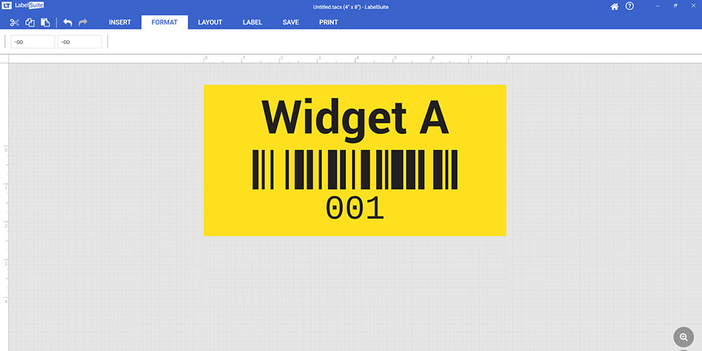 Barcode labels linked to database