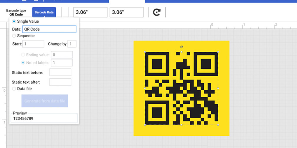 format and edit QR code data content