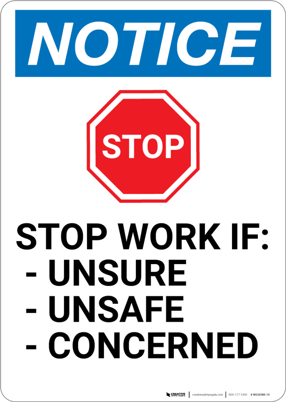 """10/"""" x 14/"""" OSHA Safety Sign Safety First Sign Report All Unsafe Conditions"""