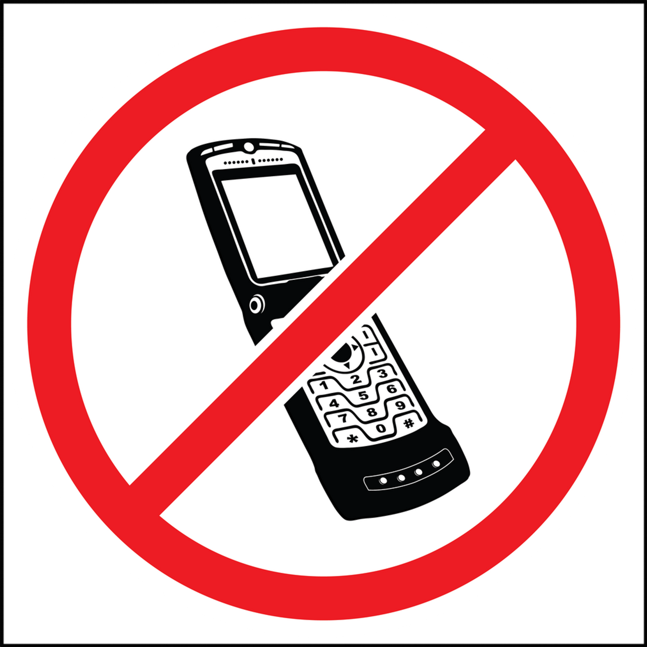 This is a picture of Irresistible No Cell Phone Sign Printable