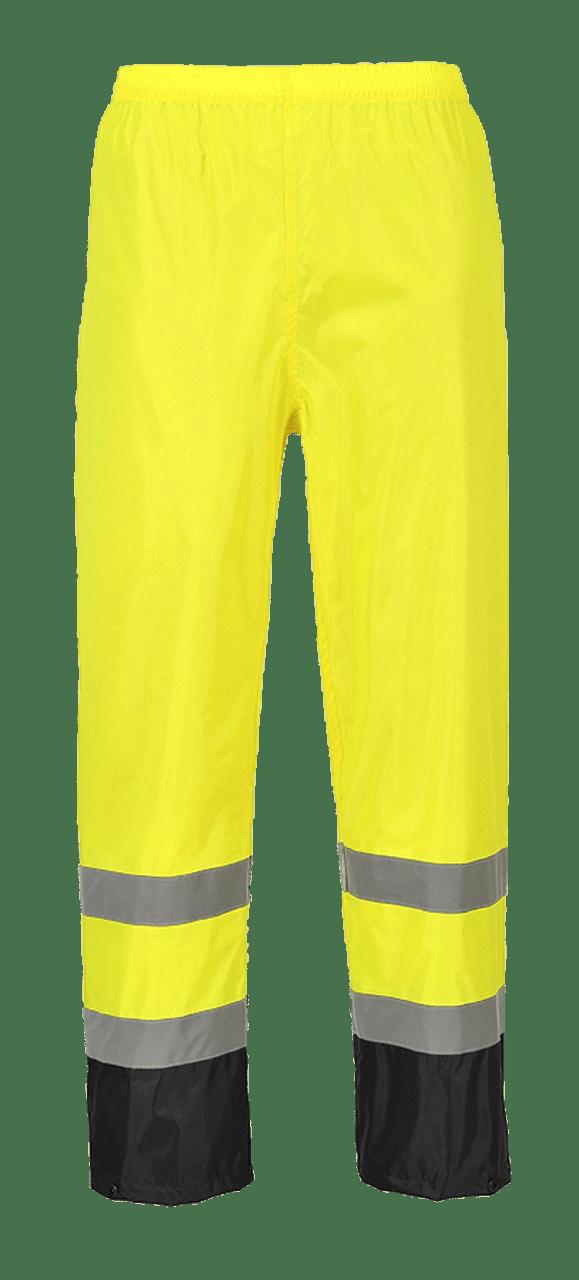 Portwest Work Wear Hi Viz Visibility Contrast Waterproof Rain Over Trousers
