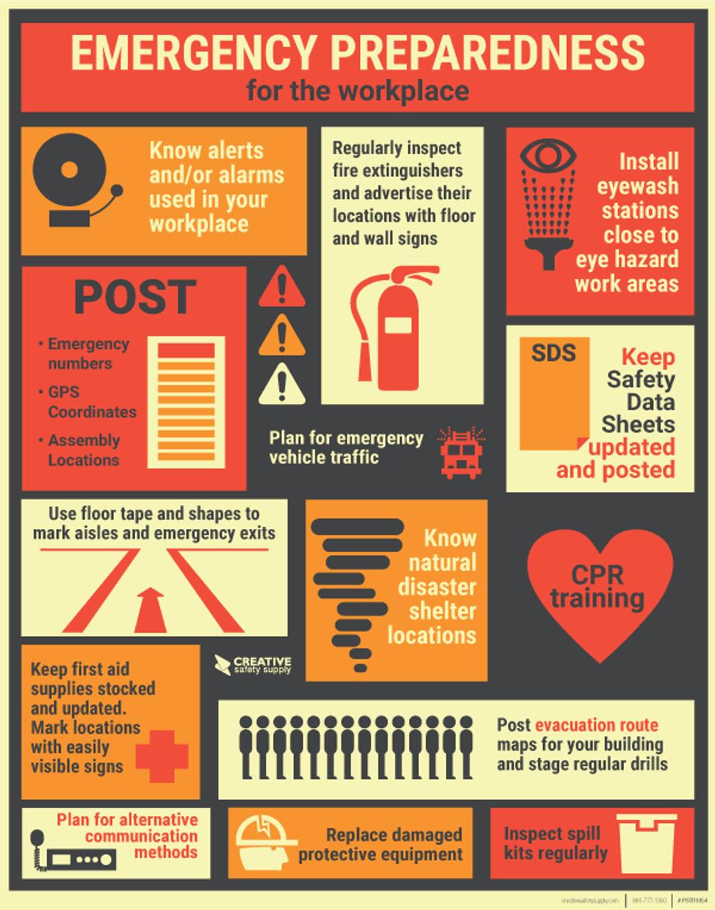 emergency preparedness safety poster