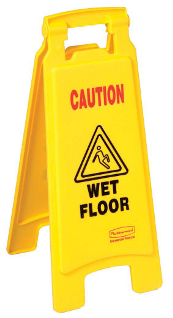 Rubbermaid Caution Wet Floor Sign Sided Creative