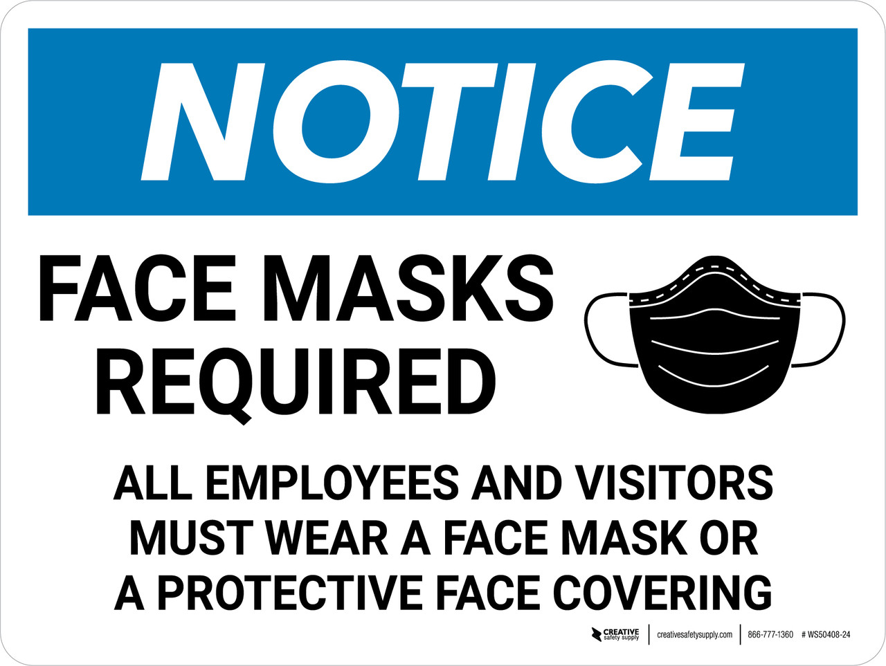 1 x BLUE Sticker Face Covering Must Be Worn Notice Door Shop Mask Sign