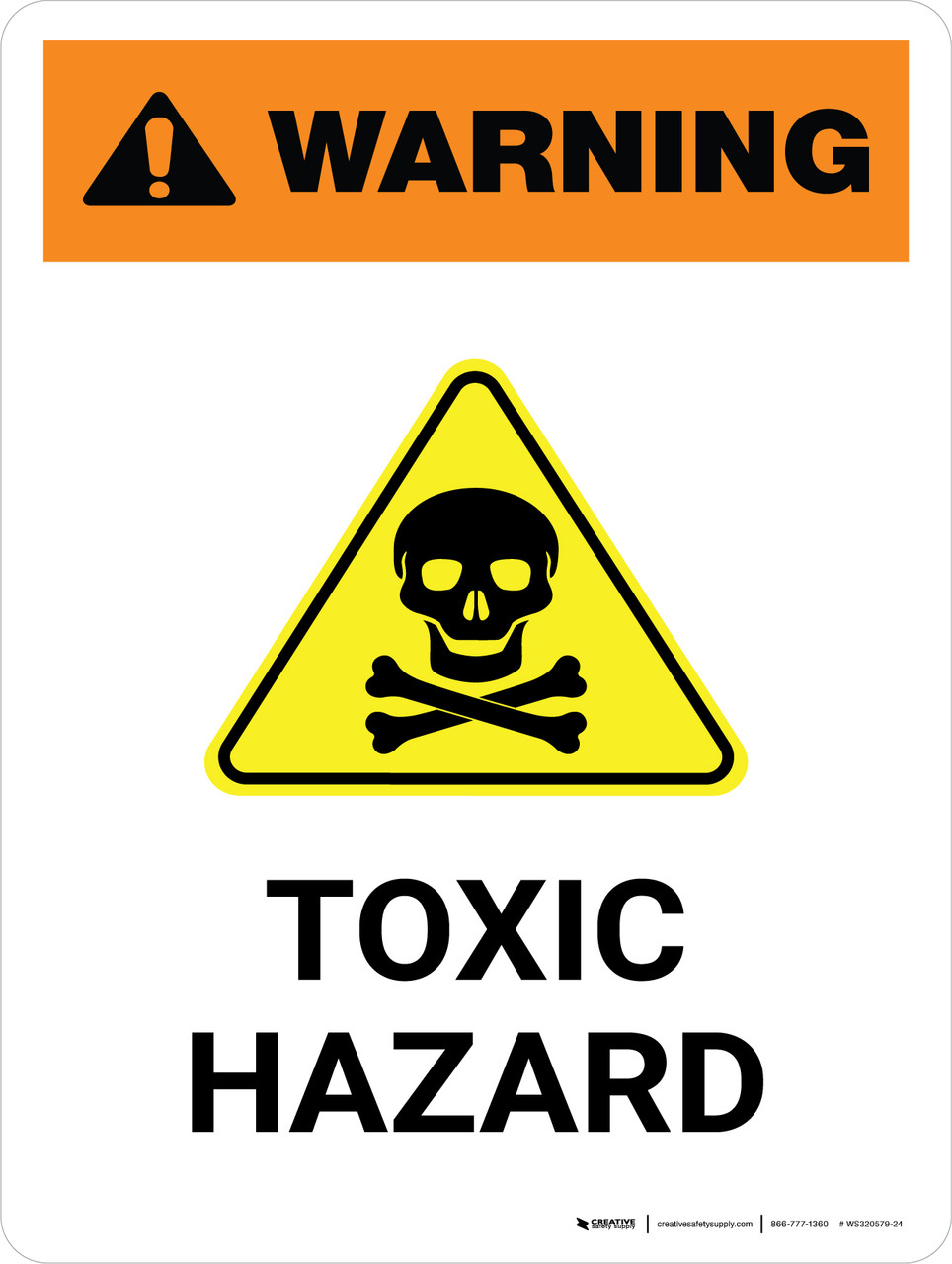 Toxic//Hazardous Chemicals are Used in This Workplace Aluminium Warning UV Signs