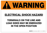 Warning: Electrical Shock Hazard - Wall Sign