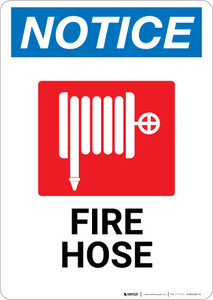 Notice: Fire Hose with Icon - Wall Sign