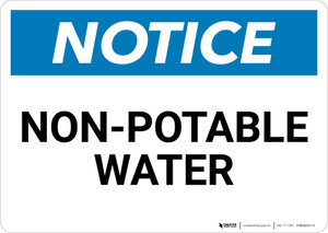 Notice: Non-Potable Water Landscape - Wall Sign