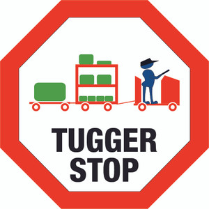Tugger Stop - Floor Sign