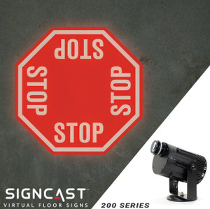 SignCast S200 Virtual Sign Projector - 4 Way Stop Sign