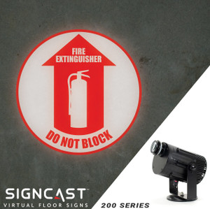 SignCast S200 Virtual Sign Projector - Fire Extinguisher, Do Not Block