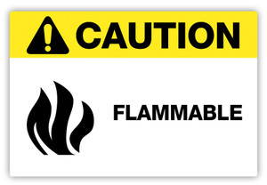 Caution - Flammable Label