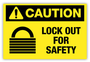 Caution - Lock Out Label