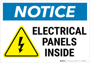 Notice:  Electrical Panels Inside - Wall Sign