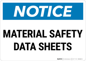 Notice: Material Safety Data Sheets Landscape - Wall Sign