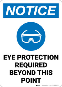 Notice: Eye Protection Required with Icon Portrait - Wall Sign