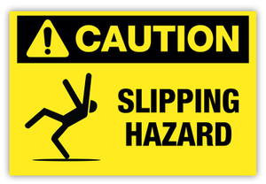 Caution - Slipping Hazard Label