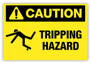 Caution - Tripping Hazard Label