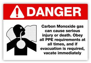 Danger - Carbon Monoxide Label