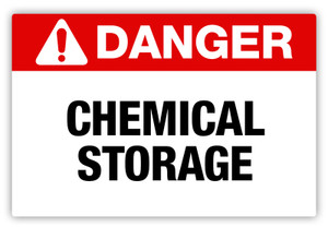 Danger - Chemical Storage Label