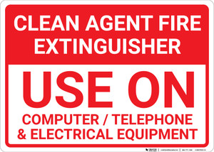 Clean Agent Fire Extinguisher Landscape - Wall Sign